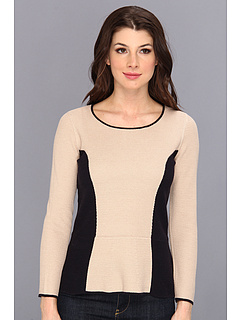 SALE! $69.99 - Save $68 on NIC ZOE Blocked Peplum Top (Multi) Apparel - 49.28% OFF $138.00