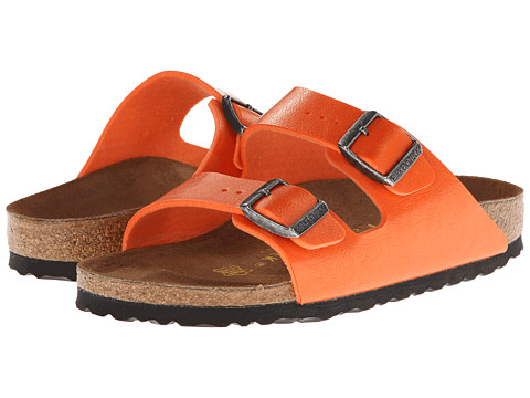 Birkenstock - Arizona Birko Flor (Flame Orange Birko-Flor ) Women