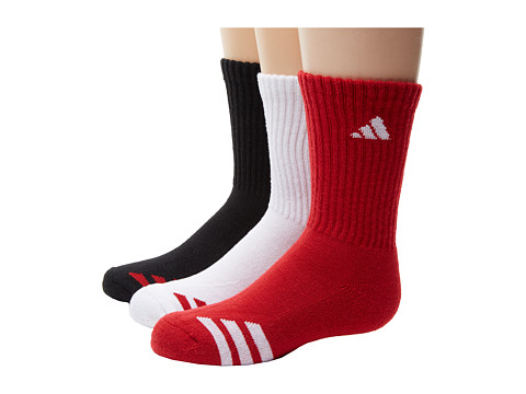 adidas Kids - Striped 3-Pack Crew (Toddler/Little Kid/Big Kid/Adult) (Univ Red/White/White/Univ Red/Black/Univ Red) Kids Shoes