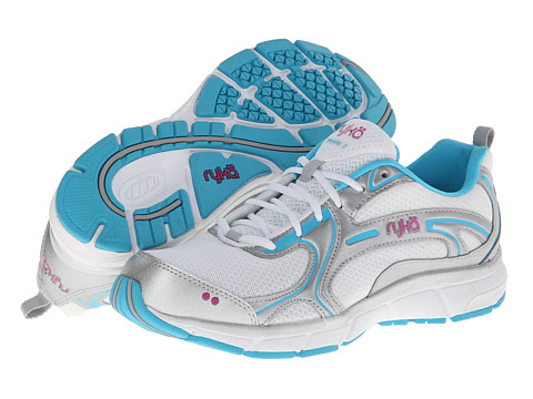 Ryka - Prodigy 2 (White/Chrome Silver/Detox Blue/Bougainvillea) Women's Running Shoes