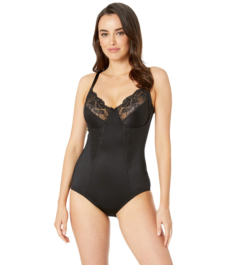 Flexees by Maidenform - Pretty Shapewear Embellished Unlined Body Briefer (Black) Women's Bra