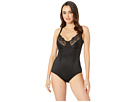 Flexees by Maidenform - Pretty Shapewear Embellished Unlined Body Briefer (Black) - Apparel