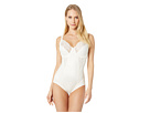 Flexees by Maidenform - Pretty Shapewear Embellished Unlined Body Briefer (Buttercream) - Apparel