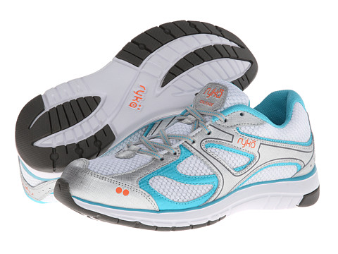 Ryka - Crusade 2 (White/Chrome Silver/Disco Teal/Atomic Orange) Women