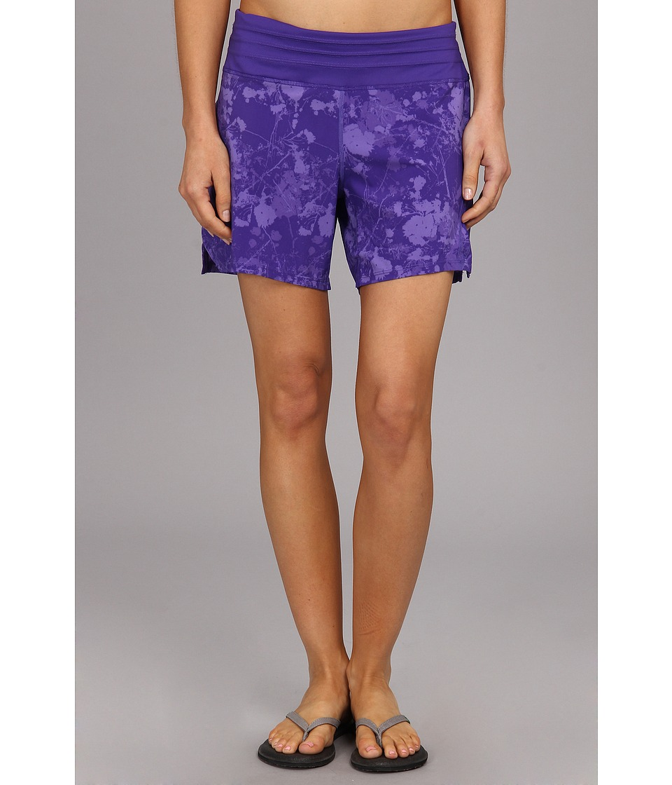 Skirt Sports - Go Longer Short (Purple Passion Print) Women's Shorts