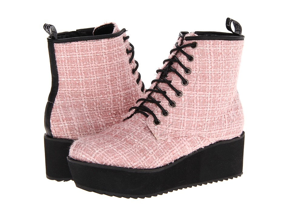 C Label - Nata-11B (Pink) Women's Lace-up Boots