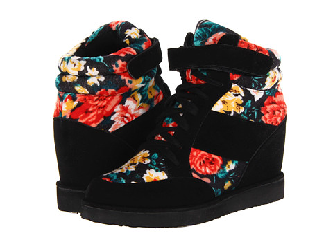 C Label - Shirley-8 (Black/Flower) Women