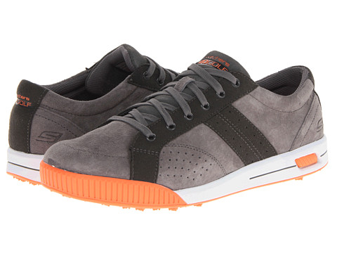 SKECHERS Performance - GO Golf - Drive (Charcoal/Orange) Men's Lace up casual Shoes