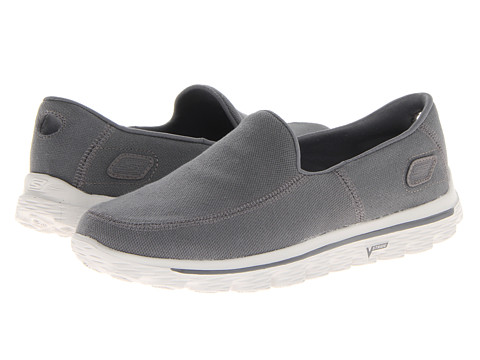 SKECHERS Performance - GO Walk 2 - Maine (Charcoal) Men's Slip on Shoes