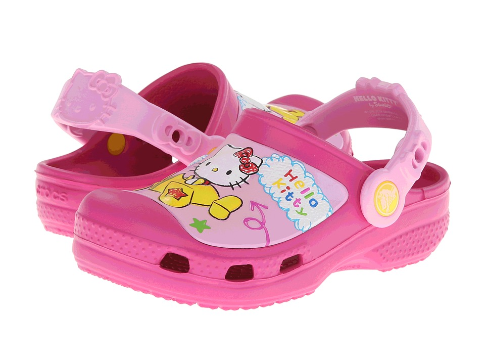 Crocs Kids - Hello Kitty Plane Clog (Toddler/Little Kid) (Fuchsia) Girl's Shoes