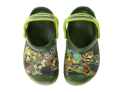 Crocs Kids - TMNT Clog (Toddler/Little Kid) (Seaweed/Volt Green) Boy