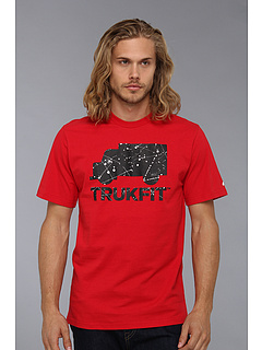 SALE! $14.99 - Save $13 on Trukfit D Splatter Logo Truk Tee (Barbados Cherry) Apparel - 46.46% OFF $28.00