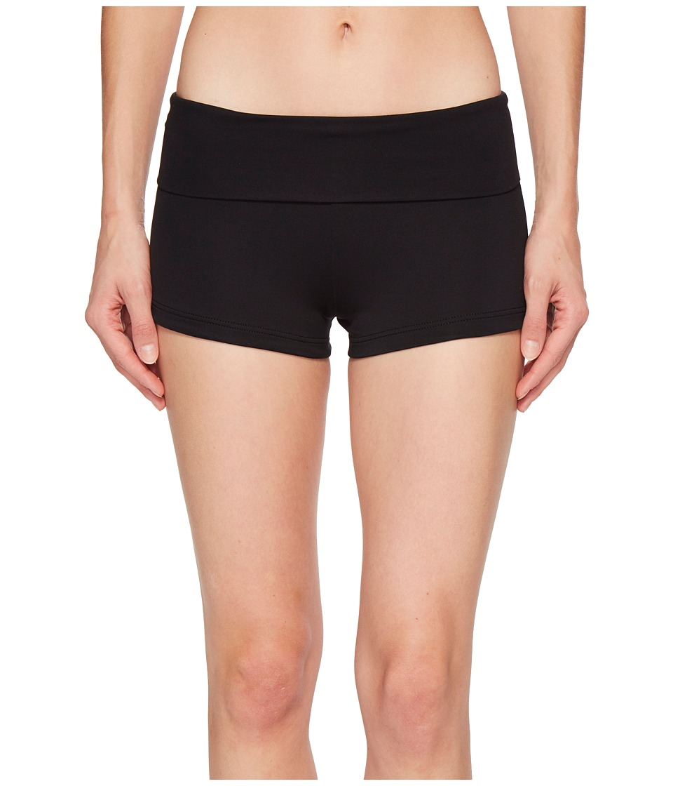 Seafolly - Roll Top Boyleg (Black) Women's Swimwear