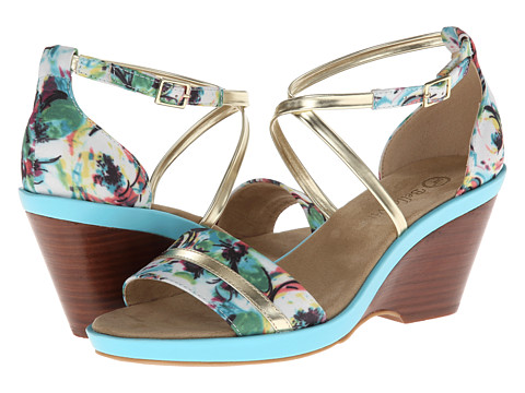 Bella-Vita - Jozie (Cool Fabric/Gold) Women's Wedge Shoes