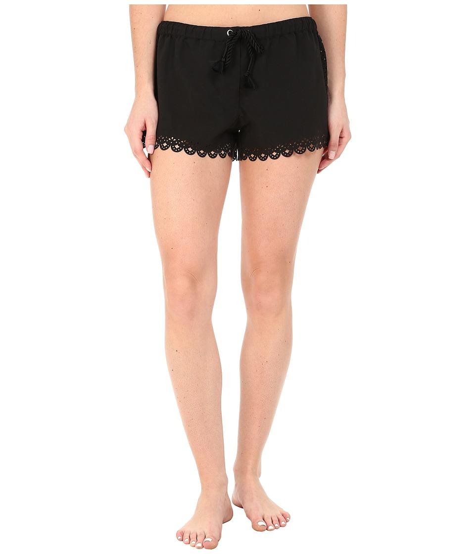 Seafolly Bella Rose Boardshort Black Swimwear