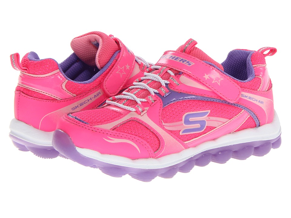 SKECHERS KIDS - SKECH Air 80220L (Little Kid/Big Kid) (Neon Pink/Lavender) Girl's Shoes