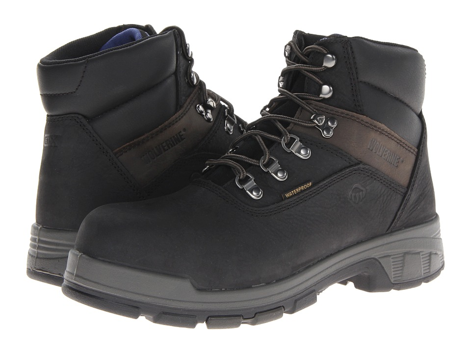 Wolverine - Cabor EPXtm PC Dry Waterproof 6 Boot - Composite Toe (Black) Men's Work Boots