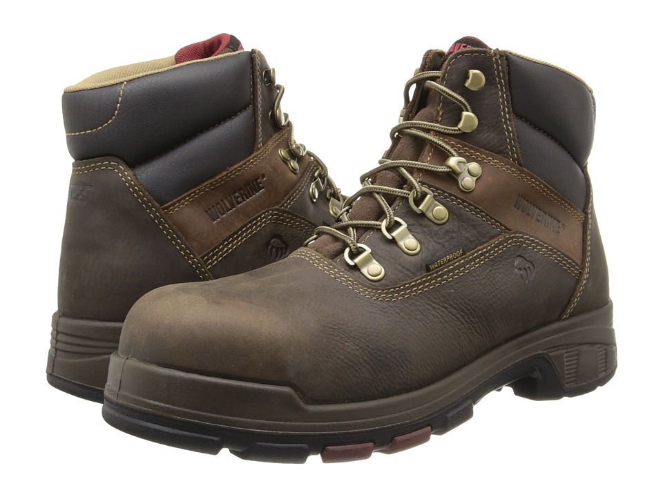 Wolverine - Cabor EPX PC Dry Waterproof 6 Boot - Composite Toe (Dark Brown) Men's Work Boots