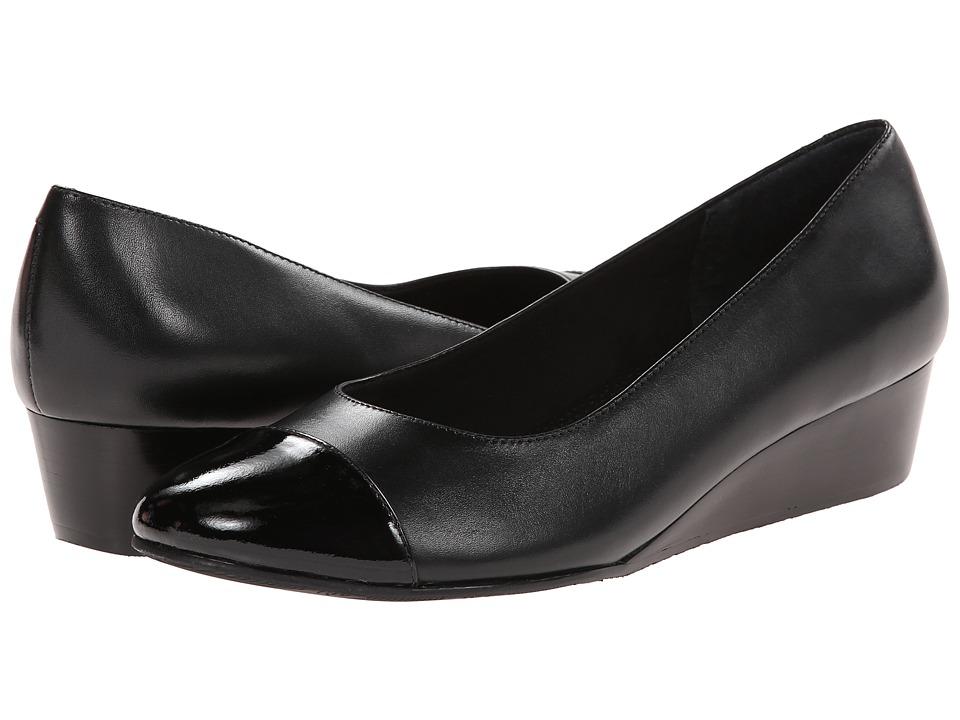 Rose Petals - Moda (Black Cashmere/Black Soft Patent) Women's Wedge Shoes