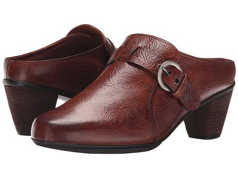 Rose Petals - Pleasure (Tan Tooled Leather) Women's Clog Shoes