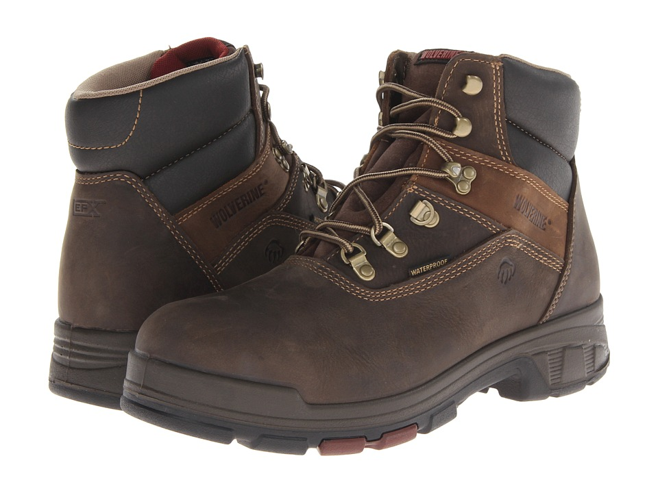Wolverine - Cabor EPX PC Dry Waterproof 6 Boot - Soft Toe (Dark Brown) Men's Work Boots