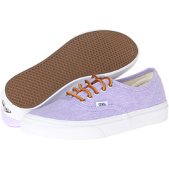 Authentic Slim ((Washed Canvas) Violet Tulip/True White) Skate Shoes