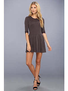 SALE! $59.99 - Save $72 on Three Dots 3 4 Sleeve Crew Neck Dress w Seam Details Pockets (Pavement) Apparel - 54.55% OFF $132.00