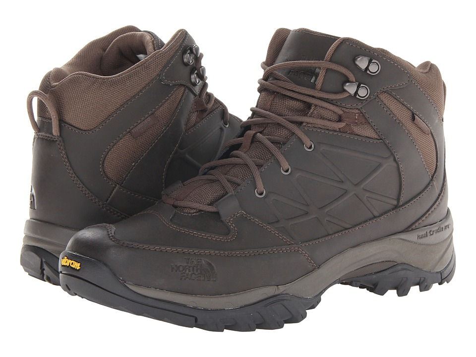 The North Face - Storm Mid WP Leather (Coffee Brown/Coffee Brown) Men's Hiking Boots