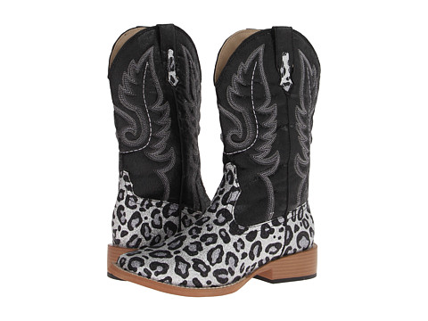 Roper - Leopard Glitter Boot (Black) Women
