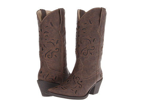 Roper - Glitter Underlay Boot (Brown) Women's Boots