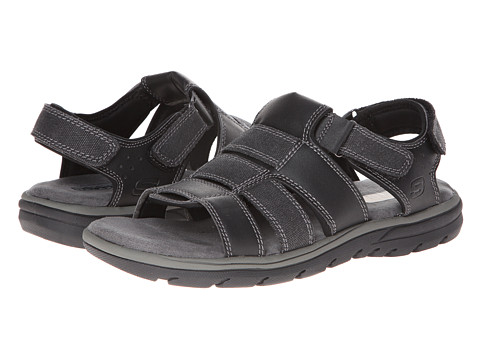 SKECHERS - Relaxed Fit 360 Supreme - Equipt (Black) Men's Sandals