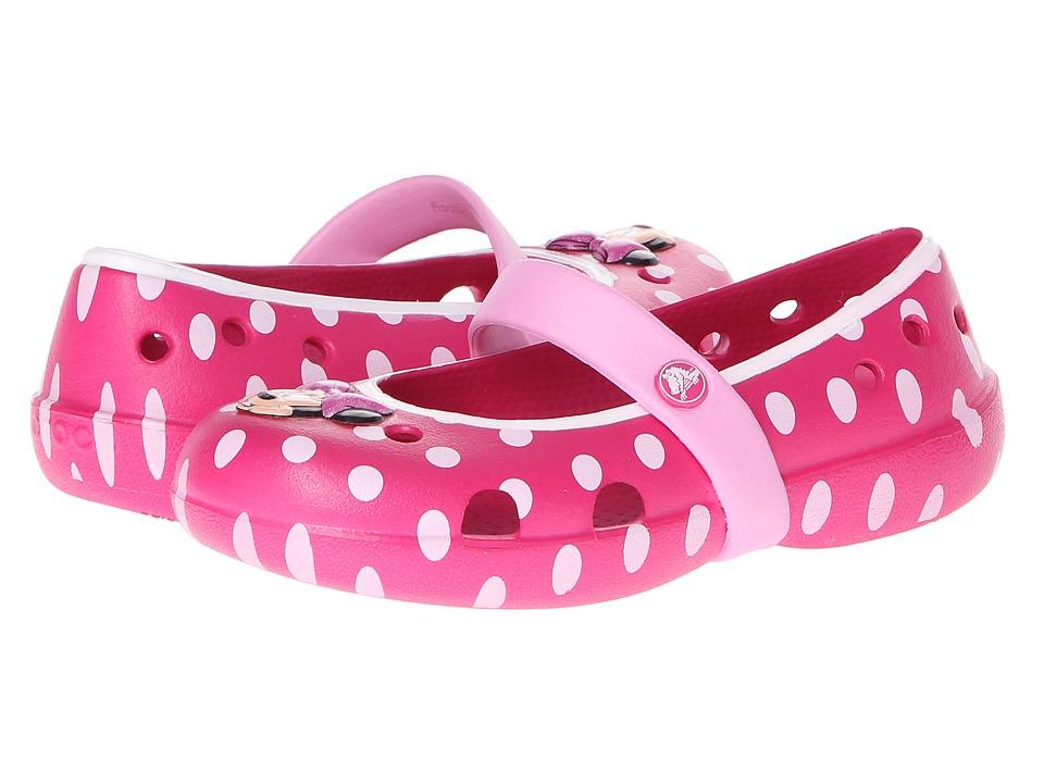 Crocs Girls Keeley Minnie Flat Crocs Girls/' Keeley Minnie Flat Crocs Kids Footwear crocs 15264