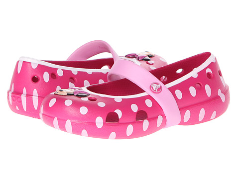 Crocs Kids - Keeley Minnie Flat (Toddler/Little Kid) (Candy Pink/Carnation) Girls Shoes