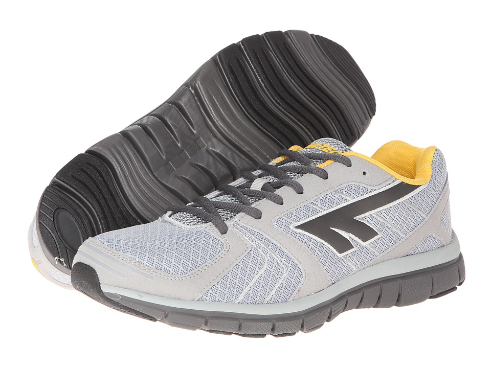 Hi-Tec - Haraka (Silver/Charcoal/Core Gold) Men's Running Shoes