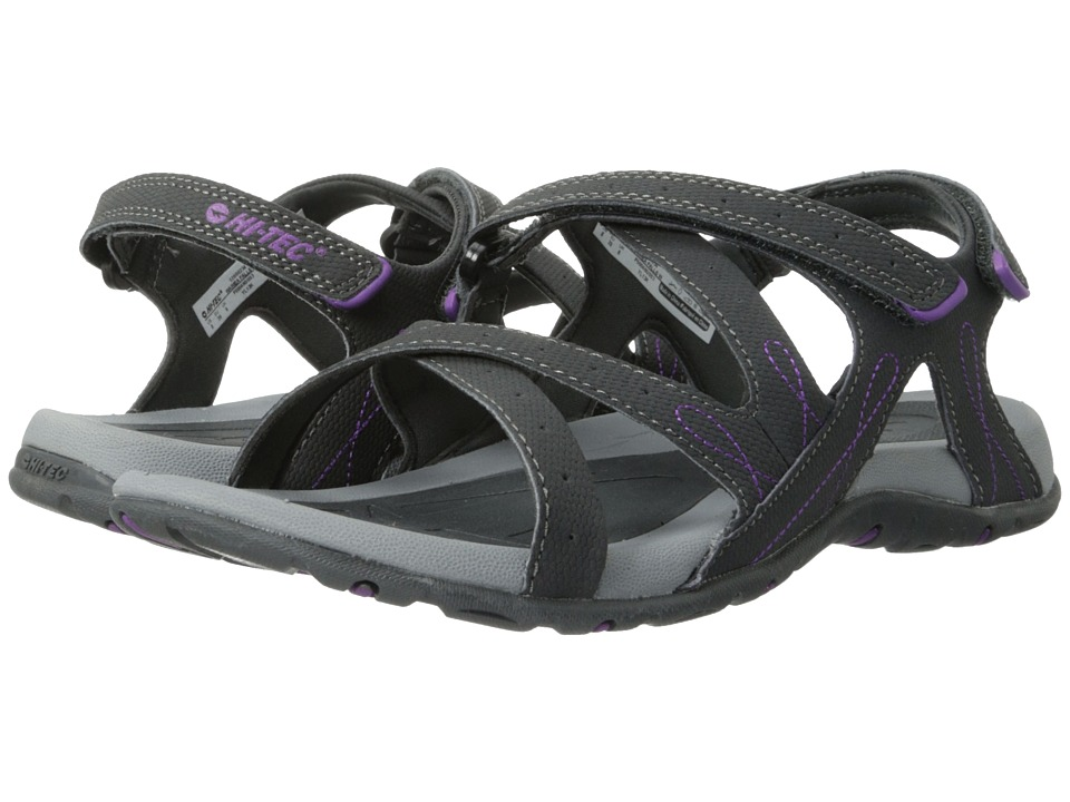 Hi-Tec - Waimea Falls (Charcoal/Purple) Women's Sandals