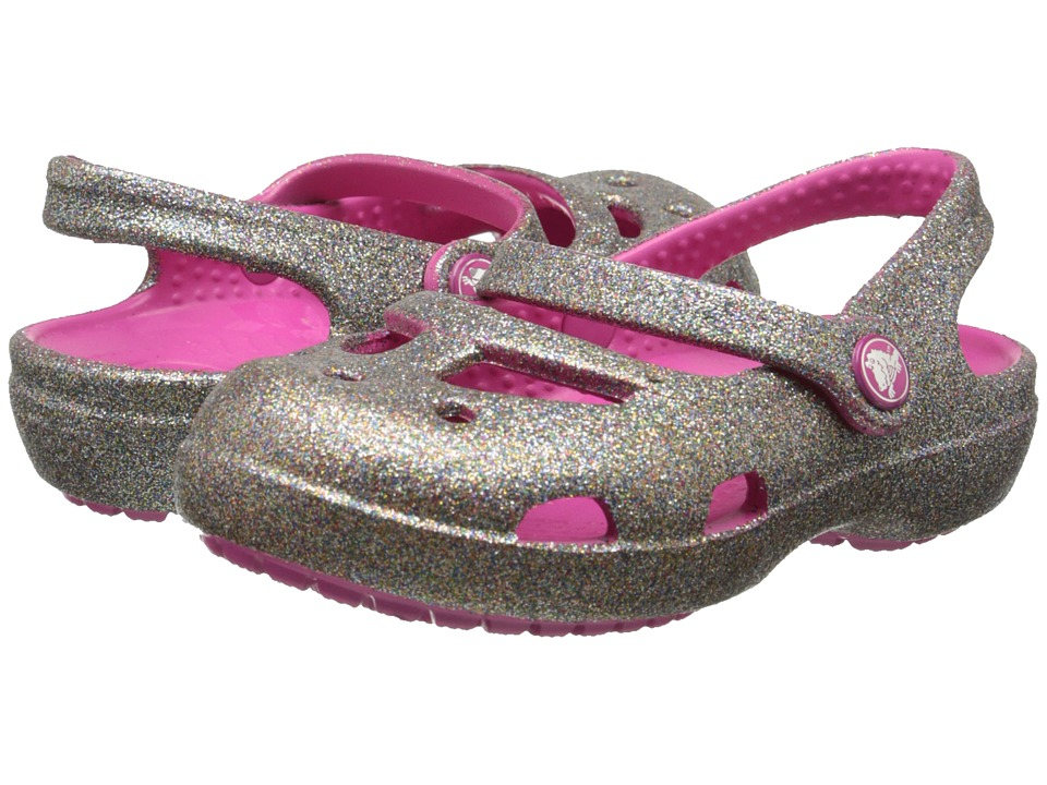Crocs Kids - Shayna Hi Glitter MJ (Toddler/Little Kid) (Multi/Fuchsia) Girl's Shoes