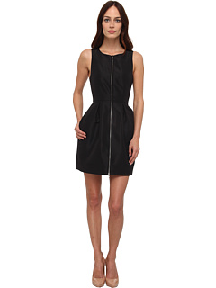 SALE! $261.99 - Save $213 on tibi Silk Faille Sleeveless Dress (Black) Apparel - 44.84% OFF $475.00