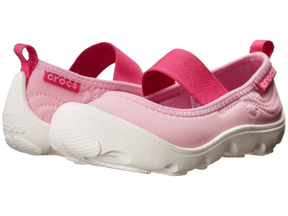 Crocs Kids - Busy Day MJ Flat Girls (Toddler/Little Kid) (Carnation/Fuchsia) Girl