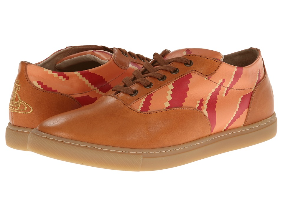 Vivienne Westwood - Low Top Maine Tiger Trainer (Orange) Men's Lace up casual Shoes