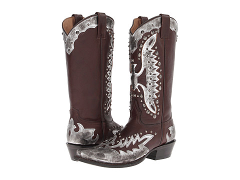 Stetson - Studded Eagle Boot (Cafe/Silver) Cowboy Boots