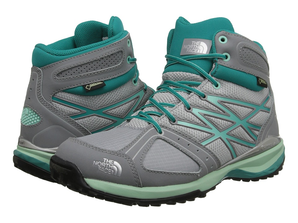 The North Face - Ultra Hike Mid GTX (High Rise Grey/Jaiden Green (Prior Season)) Women's Shoes
