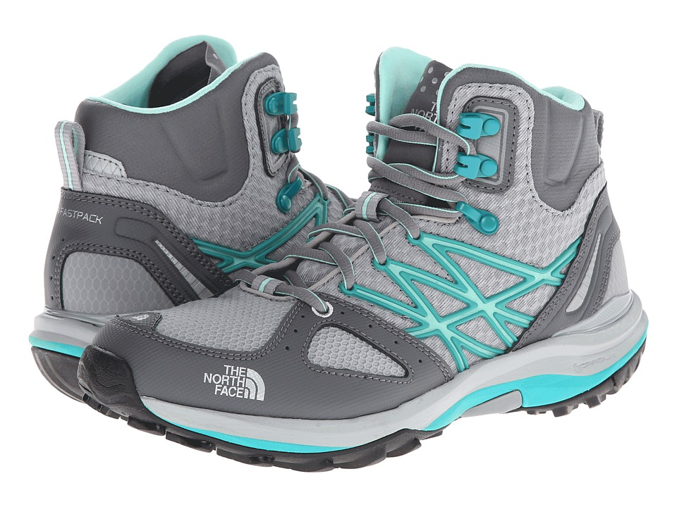 The North Face - Ultra Fastpack Mid (Jaiden Green/High Rise Grey) Women's Shoes