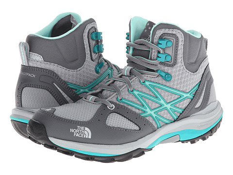The North Face - Ultra Fastpack Mid (Jaiden Green/High Rise Grey) Women