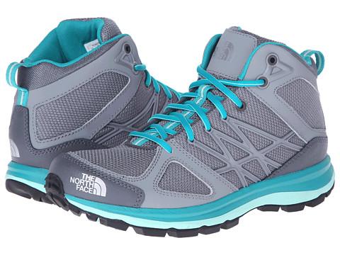 The North Face - Litewave Mid (Zinc Grey/Jaiden Green) Women's Shoes