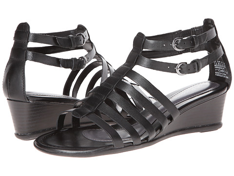 Hush Puppies - Bandy T-Strap (Black) Women's Wedge Shoes