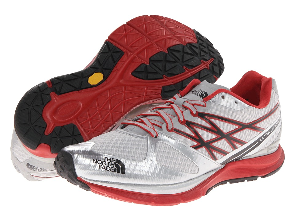 The North Face - Ultra Smooth (Metallic Silver/TNF Red) Men's Running Shoes