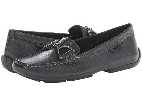 Hush Puppies - Cora (Black Leather) Women's Slip on Shoes