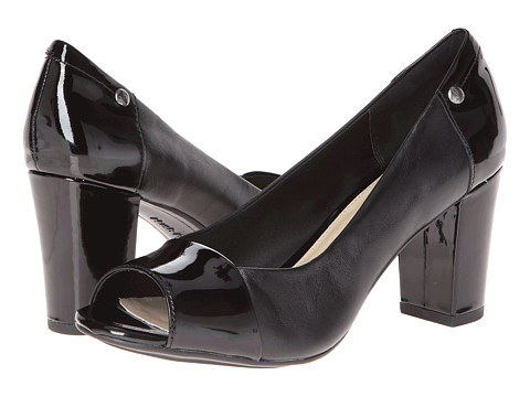 Hush Puppies - Sisany Peep Toe (Black) High Heels
