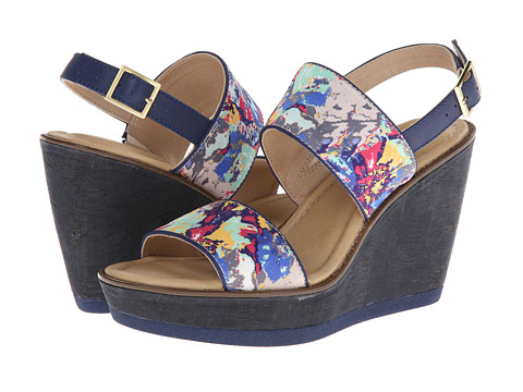 Hush Puppies - Cores Sling (Floral Print) Women's Wedge Shoes