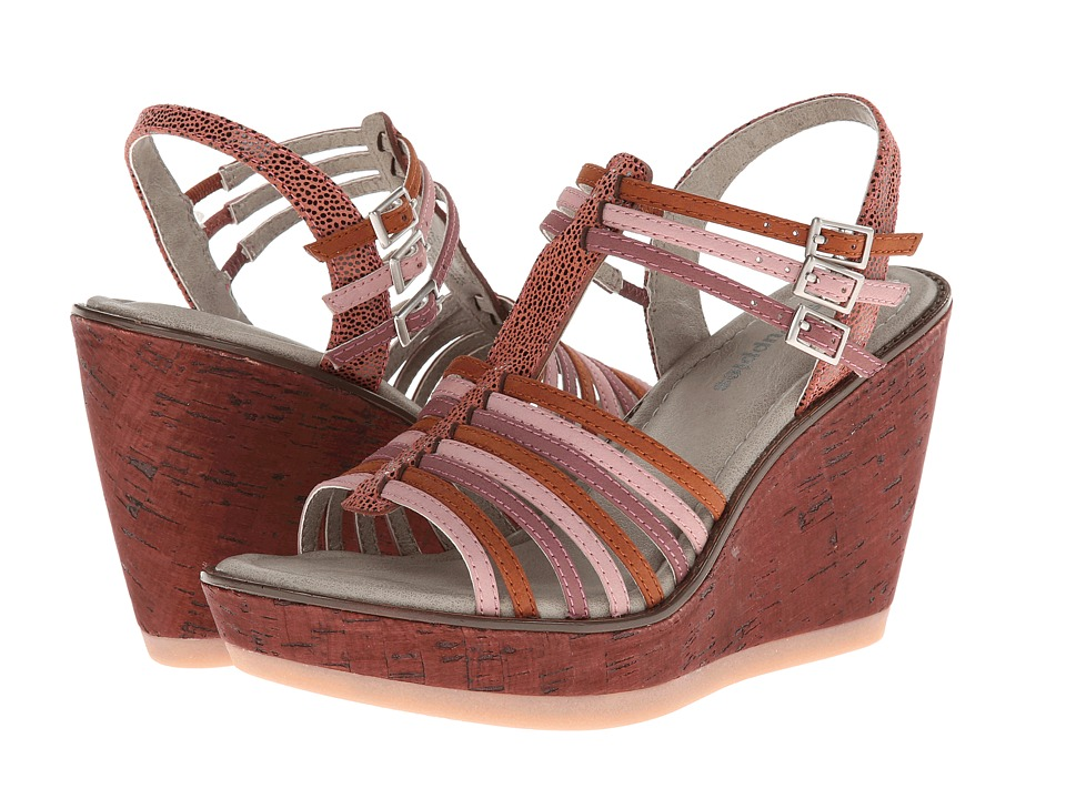 Hush Puppies - Cores Qtr Strap (Pink Multi Nubuck) Women's Wedge Shoes